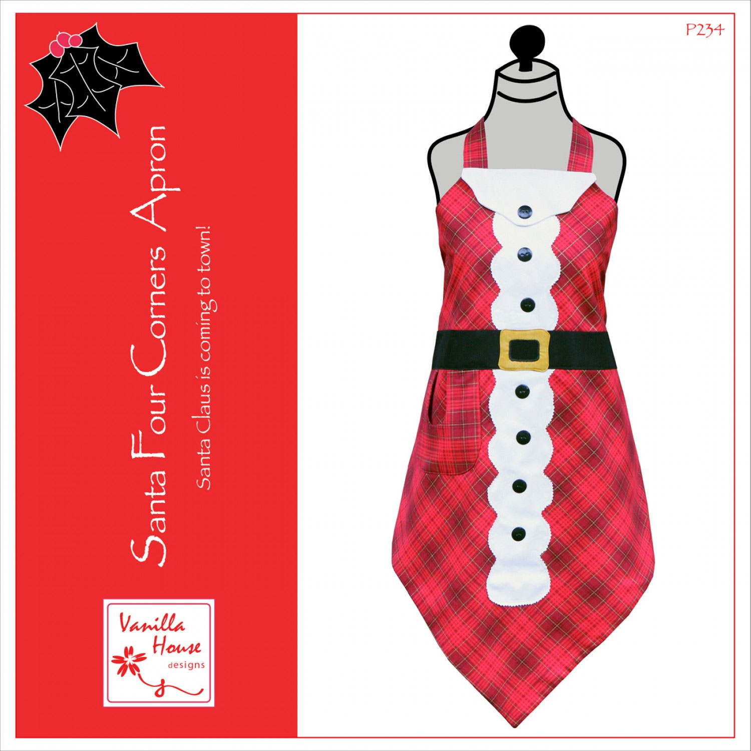 Santa-Four-Corners-Apron-sewing-pattern-Vanilla-House-Designs-front