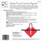 Santa Four Corners Apron sewing pattern from Vanilla House Designs 1
