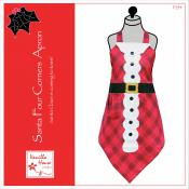 Santa Four Corners Apron sewing pattern from Vanilla House Designs