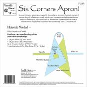 Six Corners Apron sewing pattern from Vanilla House Designs 1