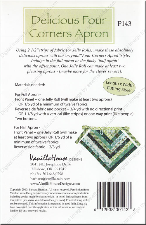 Delicious Four Corners Apron Sewing Pattern From Vanilla