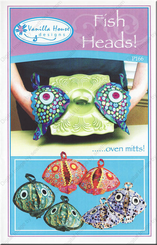 Fish Heads Oven Mitts Sewing Pattern From Vanilla House