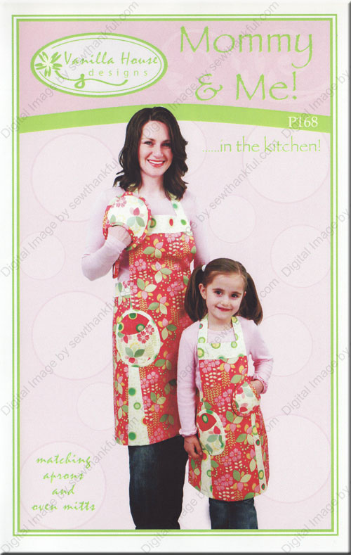 Mommy and Me in the Kitchen sewing pattern from Vanilla House Designs