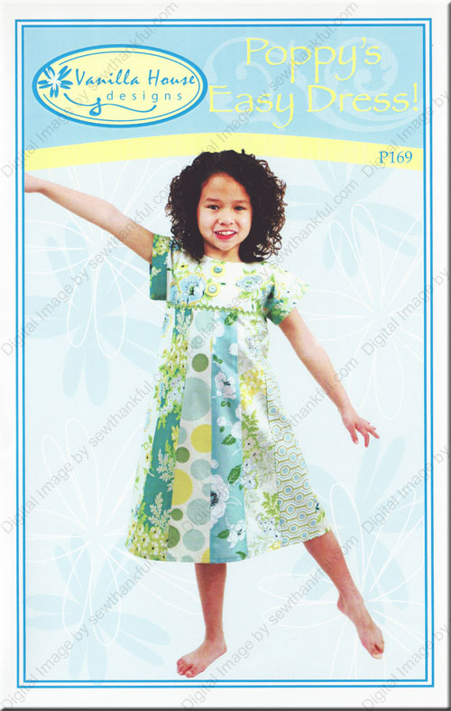 Poppy\'s Easy Dress sewing pattern from Vanilla House Designs
