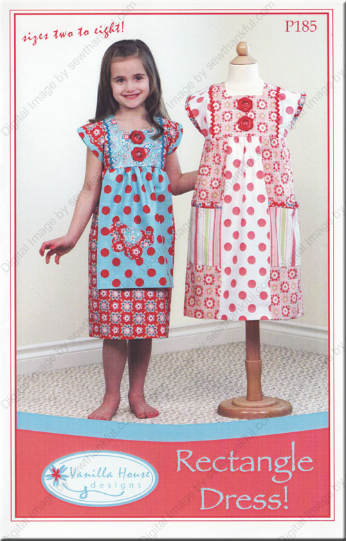 Designer Dress Patterns For Sewing Rectangle Dress sewing pattern
