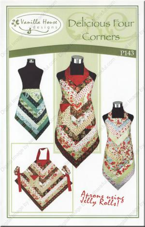 Delicious Four Corners Apron sewing pattern from Vanilla House Designs