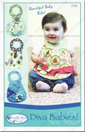 Diva Babies baby bibs sewing pattern from Vanilla House Designs