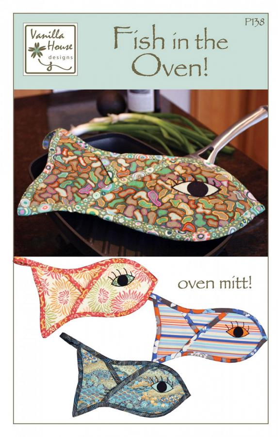 Fish in the Oven Mitt sewing pattern from Vanilla House Designs