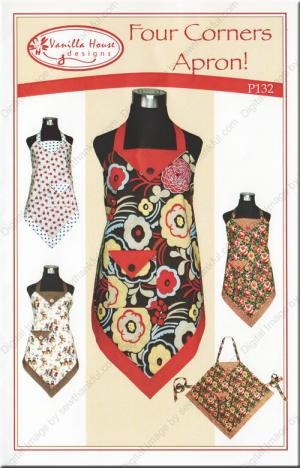 Totally Centered Apron sewing pattern from Vanilla House Designs
