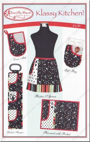 Klassy Kitchen sewing pattern from Vanilla House Designs
