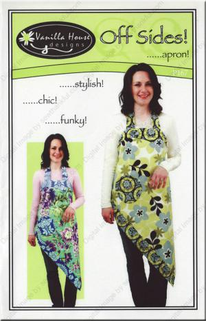 Off Sides Apron sewing pattern from Vanilla House Designs