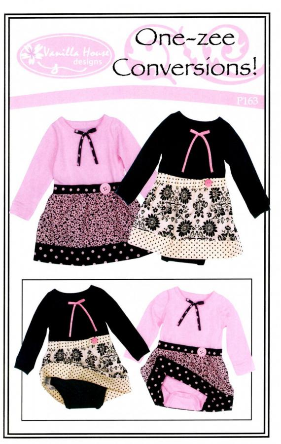One Zee Conversions Sewing Pattern From Vanilla House Designs