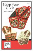 Keep Your Cool Oven Mitts sewing pattern from Vanilla House Designs