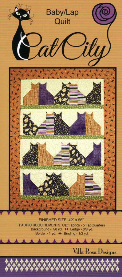 Cat City quilt sewing pattern from Villa Rosa Designs