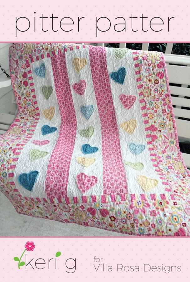 Pitter Patter quilt sewing pattern from Villa Rosa Designs