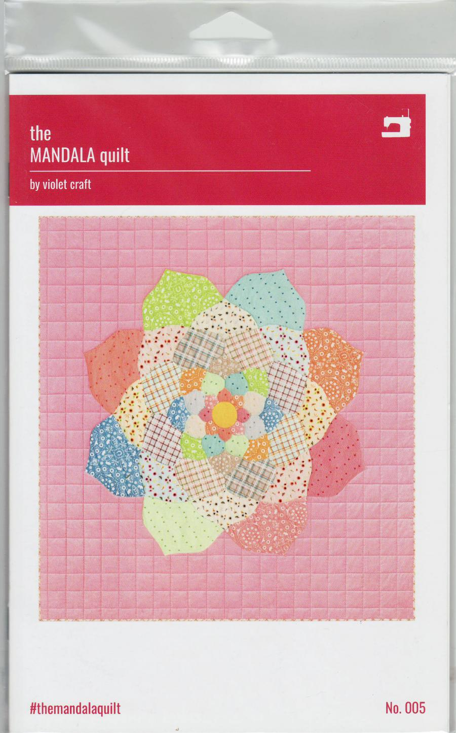 The Mandala quilt sewing pattern from Violet Craft