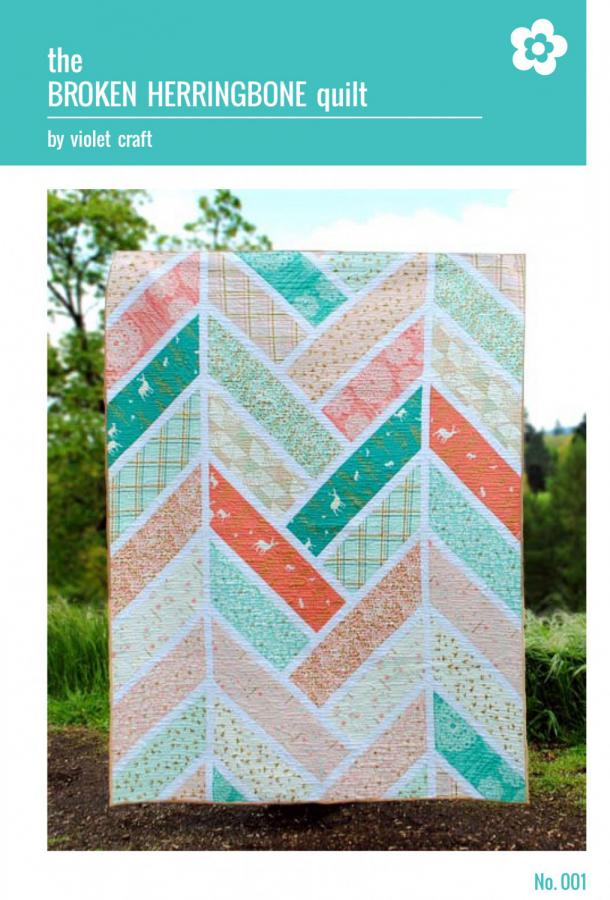 INVENTORY REDUCTION...The Broken Herringbone Quilt sewing pattern from Violet Craft