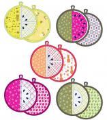 Fruit Slice Pot Holders sewing pattern from Violet Craft 2