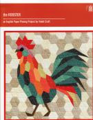 The Rooster English paper piecing project sewing pattern from Violet Craft