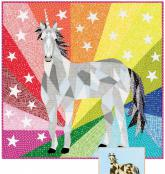 The Unicorn and Horse Abstractions Quilt sewing pattern from Violet Craft 2