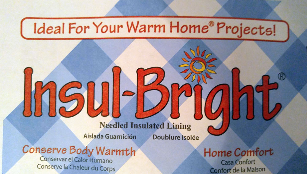 "45/"" x 1 Yard Insulbright Insul-bright Needlepunched Insulated Lining"