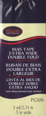 Extra Wide Double Fold Bias Tape from Wrights - Navy