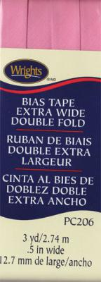INVENTORY REDUCTION...Extra Wide Double Fold Bias Tape from Wrights - Pink