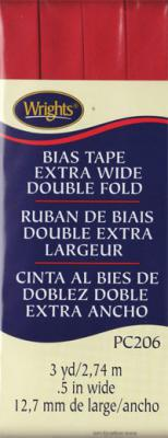 Extra Wide Double Fold Bias Tape from Wrights - Red