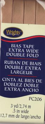 Extra Wide Double Fold Bias Tape from Wrights - Tan