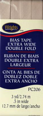 Extra Wide Double Fold Bias Tape from Wrights - Khaki
