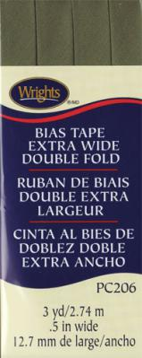 Extra Wide Double Fold Bias Tape from Wrights - Leaf