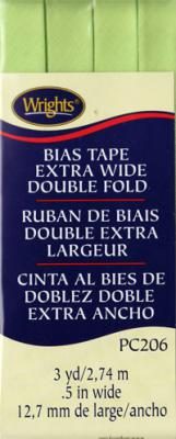 INVENTORY REDUCTION...Extra Wide Double Fold Bias Tape from Wrights - Lime Green