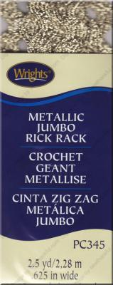 Jumbo Rick Rack from Wrights - Metallic Gold