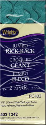 Jumbo Rick Rack from Wrights - Mediterranean