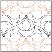 Dancing Filigree quilting pantograph sewing pattern from Andi Rudebusch