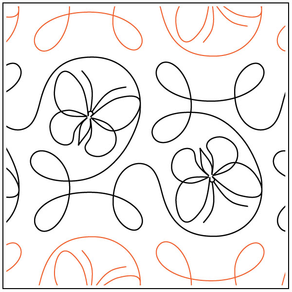 Garden-Flight-quilting-pantograph-pattern-Apricot-Moon-Designs