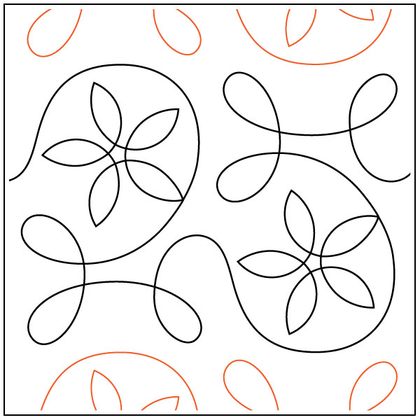 Ginger-Spring-quilting-pantograph-pattern-Apricot-Moon-Designs