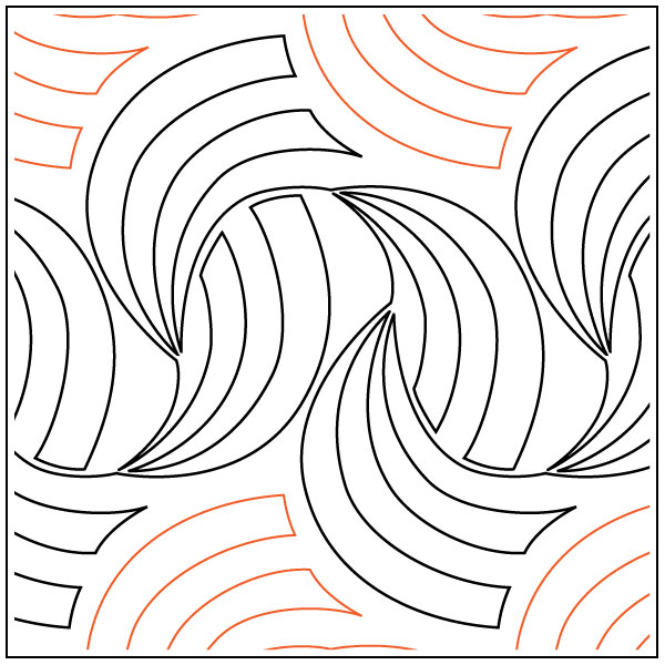 Golden-Curls-quilting-pantograph-pattern-Apricot-Moon-Designs