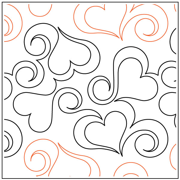 Heart-Fancy-quilting-pantograph-pattern-Apricot-Moon-Designs
