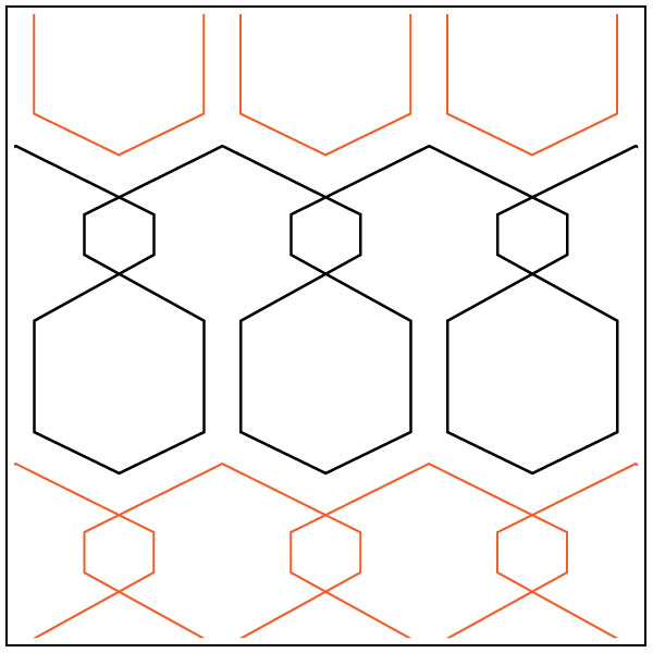 Hexercise-quilting-pantograph-pattern-Apricot-Moon-Designs