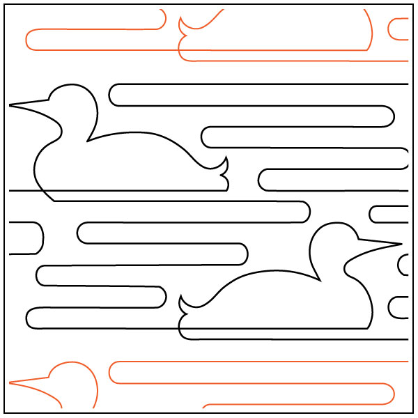 Loon-Call-quilting-pantograph-pattern-Apricot-Moon-Designs