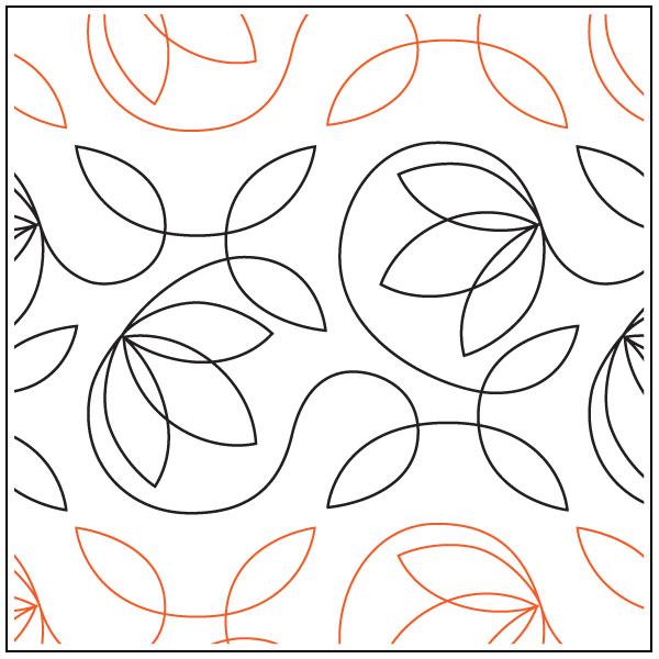 Saffron-Blossoms-quilting-pantograph-pattern-Apricot-Moon-Designs