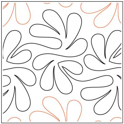 Apricot Moon's Flounce quilting pantograph pattern from Apricot Moon Designs