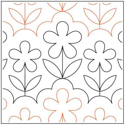 Garden-Breeze-quilting-pantograph-pattern-Apricot-Moon-Designs