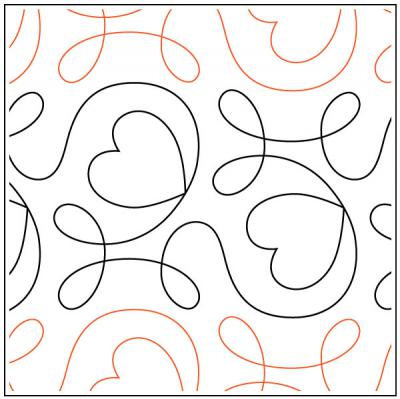 Ginger Heart pantograph pattern from Apricot Moon Designs
