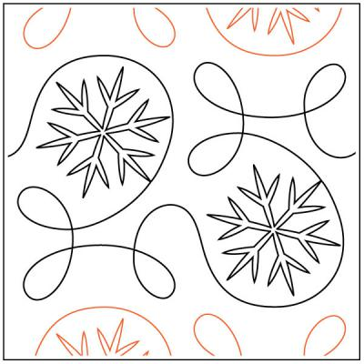 Ginger-Ice-quilting-pantograph-pattern-Apricot-Moon-Designs
