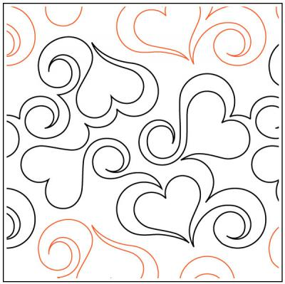 Heart Fancy pantograph pattern from Apricot Moon Designs