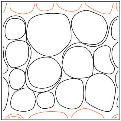 Rolling-Stone-quilting-pantograph-pattern-Apricot-Moon-Designs