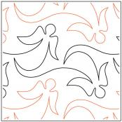 Angel Wings quilting pantograph pattern from Apricot Moon Designs