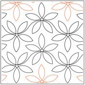 Dainty Lady Floral quilting pantograph pattern from Apricot Moon Designs
